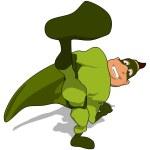 Fun superhero in Green suit — Stock Photo #70771767