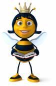 Fun cartoon bee — Zdjęcie stockowe