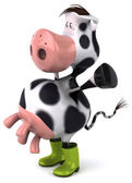 Fun cartoon cow — Stock Photo