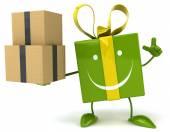 Fun cartoon gift — Stock Photo