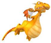Fun cartoon dragon — Stock Photo