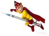 забавный мультипликационный супергерой — Стоковое фото