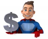 Fun cartoon superhero — Stock Photo