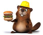 Fun cartoon beaver — Stock Photo