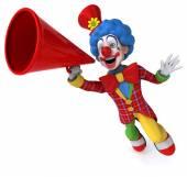 Fun cartoon clown — Stock Photo