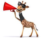 Fun giraffe in business suit — Stock Photo