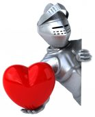 Fun cartoon knight — Stock Photo