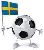 Football ball with flag — Stock Photo