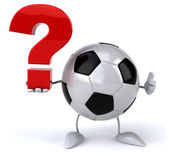 Football ball with question mark — Stock Photo