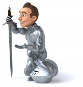 Fun cartoon knight — Stock Photo