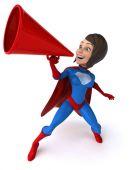 Kadın süper kahraman eğlenceli — Stok fotoğraf