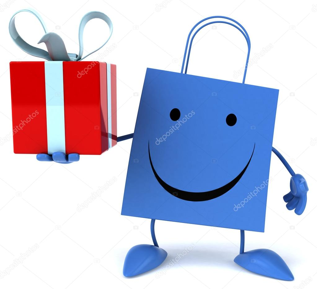 卡通购物袋 — 图库照片08julos#75999161