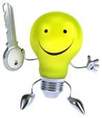 Cartoon light bulb — Stock Photo
