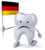 Fun tooth with flag — Stock Photo