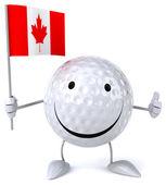 卡通标志高尔夫球球 — 图库照片
