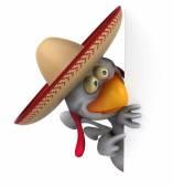Zábavné kreslené kuře — Stock fotografie