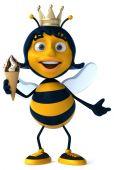 Pszczoła zabawa z lodami — Zdjęcie stockowe