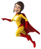Desenho animado Super mulher — Fotografia Stock