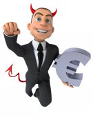 Fun cartoon devil businessman — Stock Photo