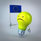 Cartoonlight žárovka — Stock fotografie