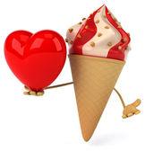 Cartoon Ice cream — Stock Photo