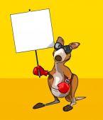 Eğlenceli çizgi film kanguru — Stok fotoğraf
