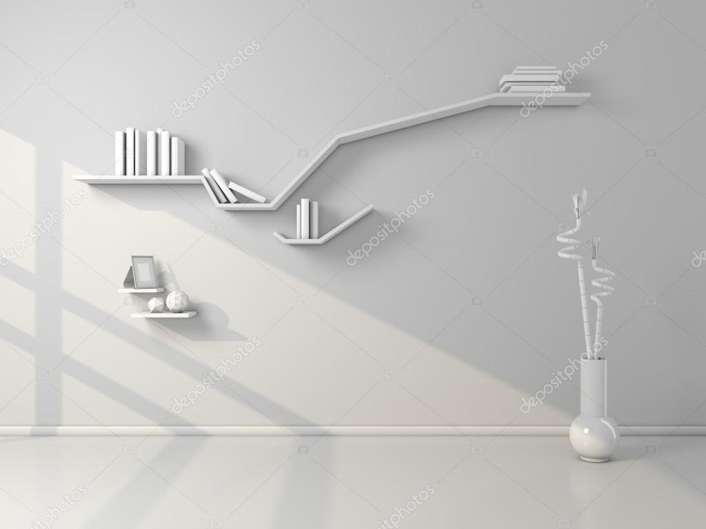 Mensole moderne rendering 3D — Foto Stock © rukanoga #75184727
