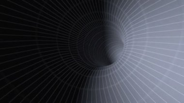 Rapid movement in an abstract Euclidean tunnel HD seamless video 1080 — Stockvideo