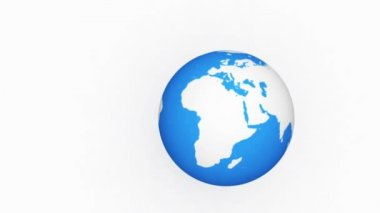 Abstract Earth globe broken after the fall HD video 1080 (slow motion) — Stock Video