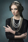 Aristocratic vintage dame  — Stock Photo