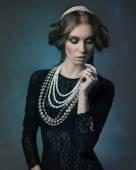 Noble antique lady  — Stock Photo