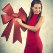 Smiling beautiful christmas girl — Stock Photo #56939569
