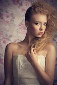 Girl with creative elegant style  — Foto de Stock