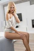 Sensual blonde — Stock Photo