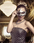 Woman with elegant mask  — Stock Photo