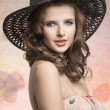 Brunette with hat — Stock Photo #68464509