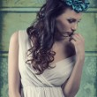 Vintage romantic spring girl — Stock Photo #70473521