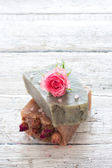 Sps set with handmade soap — Stock Photo