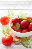 Geconserveerde tomaten — Stockfoto