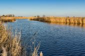 A beautiful of river landscape of before sunset — Foto Stock