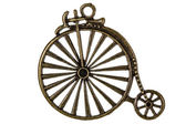 Bicycle, decorative element for manual work, isolated on white b — Stock Photo