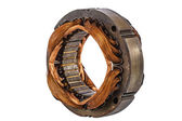 Stator of the electric motor, isolated on white background — Stock Photo