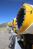 雪の大砲 — ストック写真