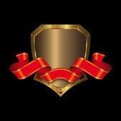 Золотой щит и Красного Знамени — Стоковое фото