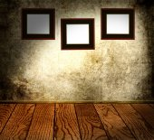 Frames on a concrete wall  — Stock Photo