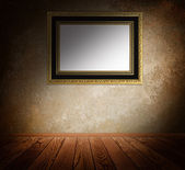 Vintage frame on a wall. — Stock Photo