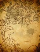 Grunge floral background. — Stockfoto