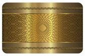 Business card template. Gold card. — Stok fotoğraf