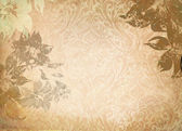 Old grunge paper with floral patterns. — 图库照片