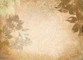 Old grunge paper with floral patterns. — Stockfoto
